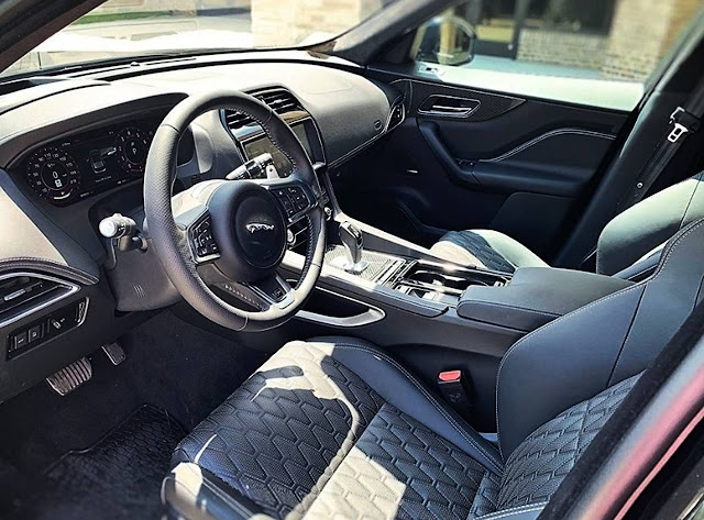 2020-Jaguar-F-Pace-SVR-interior-inside,-seats,-and-steering-wheel