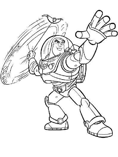Free Disney Coloring Pages : Buzz Lightyear On Toy Story