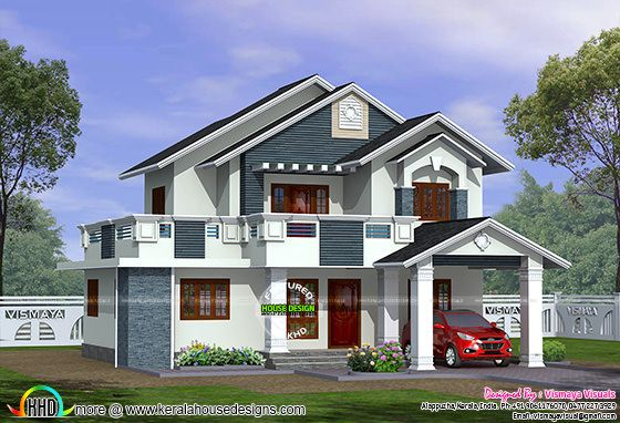 Sloping roof 3 bedroom 1750 sq-ft