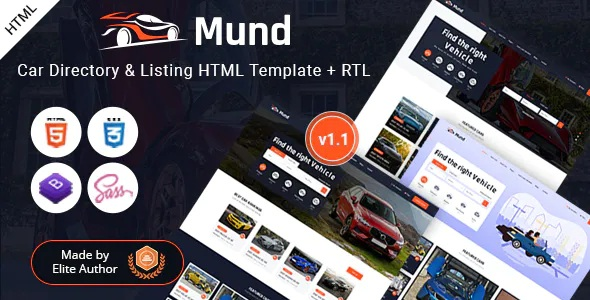 Free Mund Car Directory and Listing HTML Template