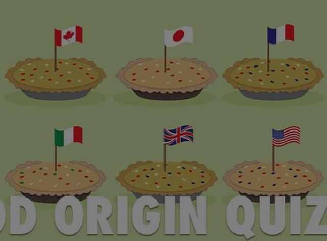 Food Origin Quiz V2 Answers