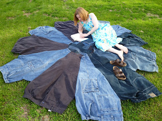 http://www.cutoutandkeep.net/projects/denim-blanket-from-upcycled-jeans
