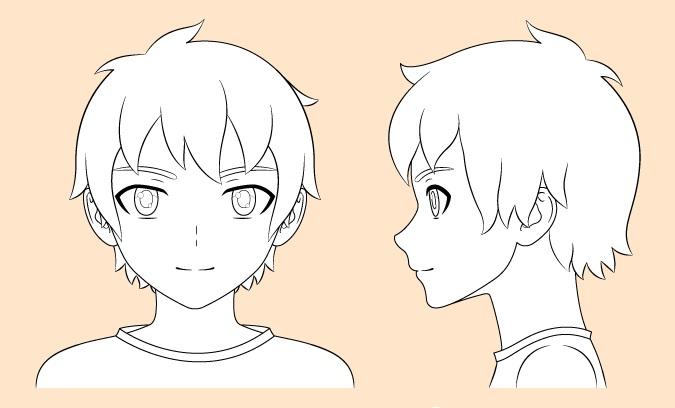 Gambar garis anime boy