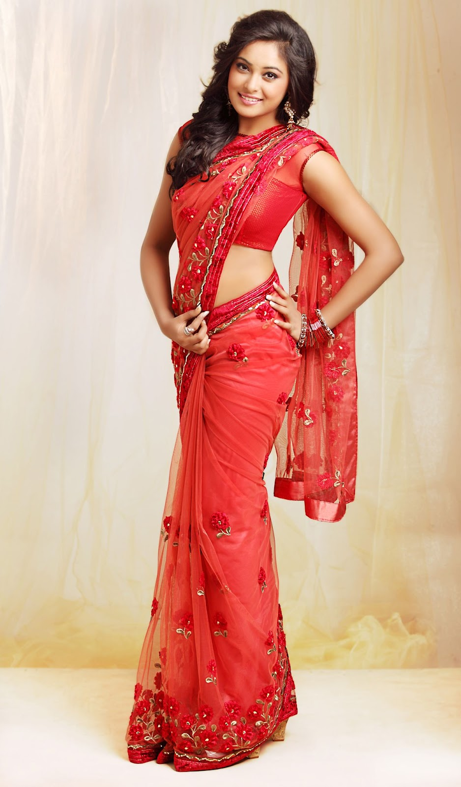 Indian Porn Red Saree