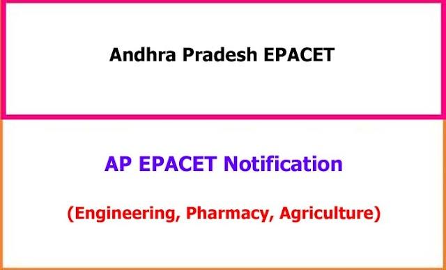 AP EPACET 2021 Notification, Online Application Schedule