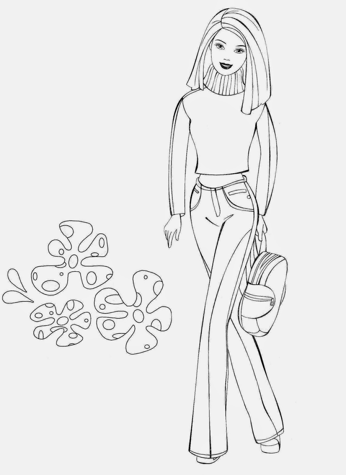 Coloring Pages Barbie Free Printable