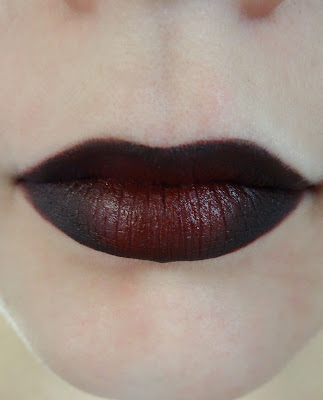 Ombre Lips red to black