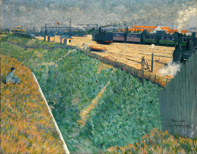 Charles Angrand - The Western Railway at its Exit from Paris - 1886