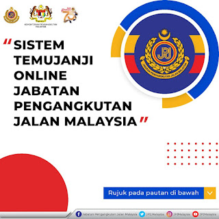 Permohonan Temujanji Online JPJ Negeri / Cawangan