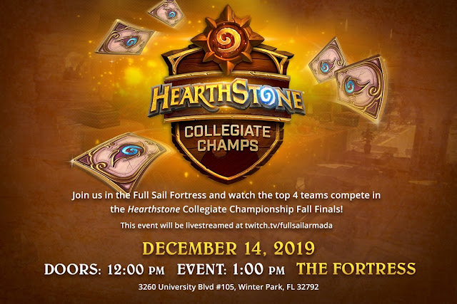 2019 Hearthstone Collegiate Championship Fall Finals To Be Held At The Fortress At Full Sail University
