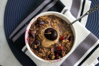 Chocolate Cherry Protein Oatmeal