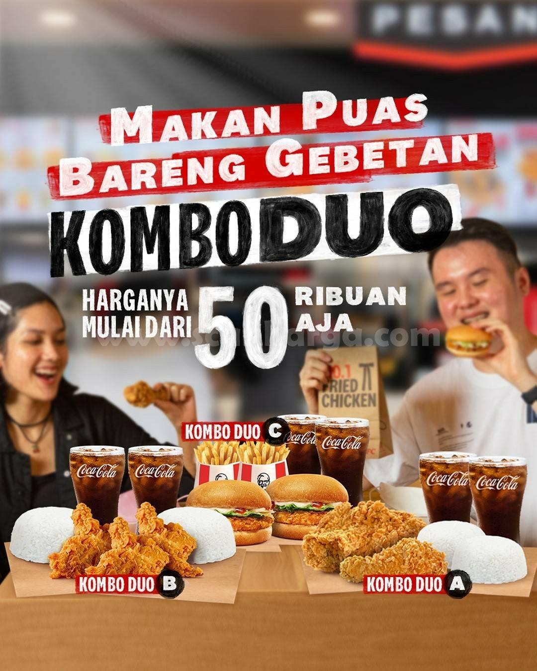 Promo KFC KOMBO DUO Harga Paket hanya 50 Ribuan Aja!