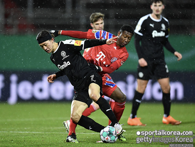 Lee Jae-Sung plays his part in victory over Bayern Munich