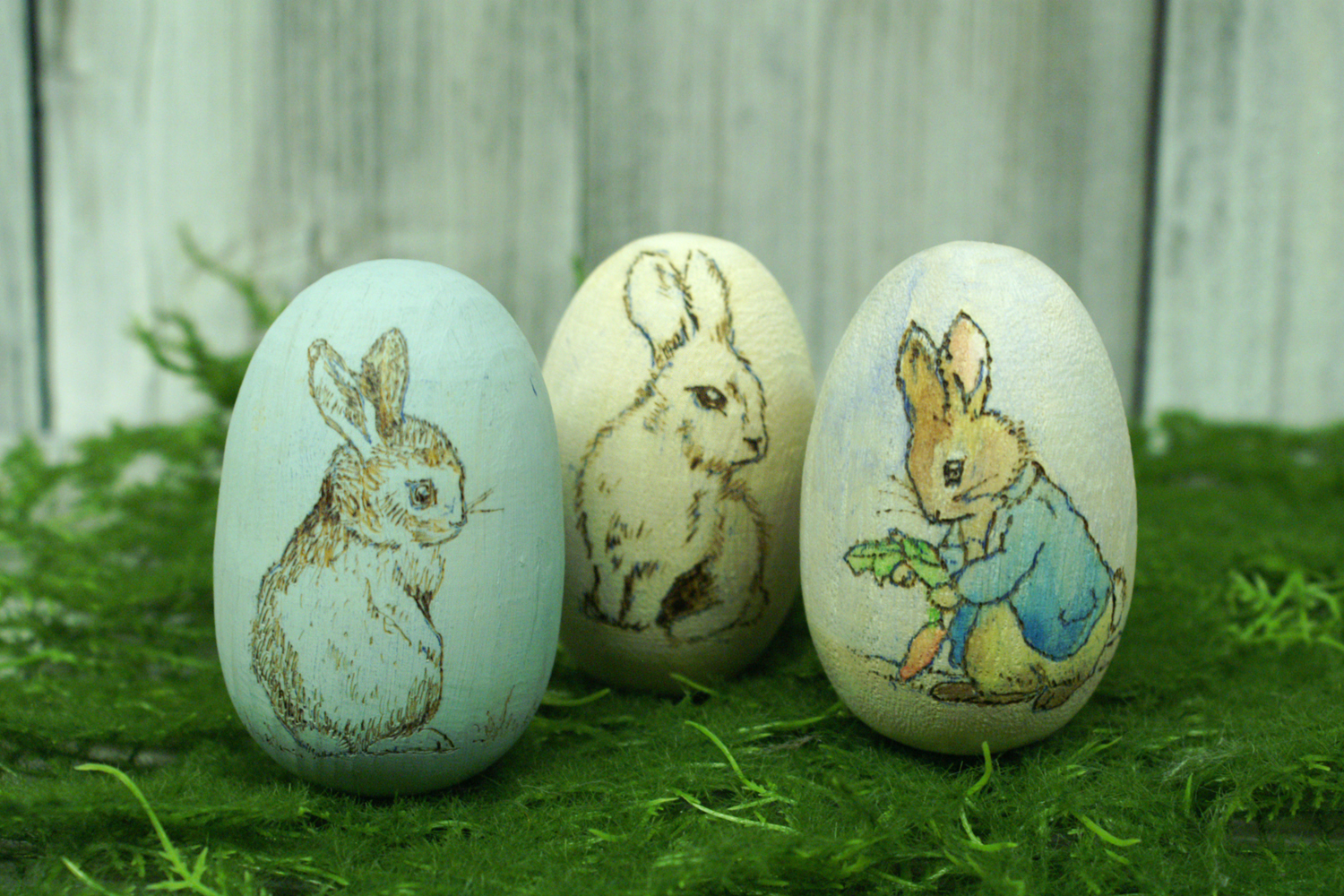 Ben franklin crafts and frame shop diy wood burned easter for Wooden eggs for crafts
