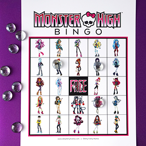 Monster High Bingo