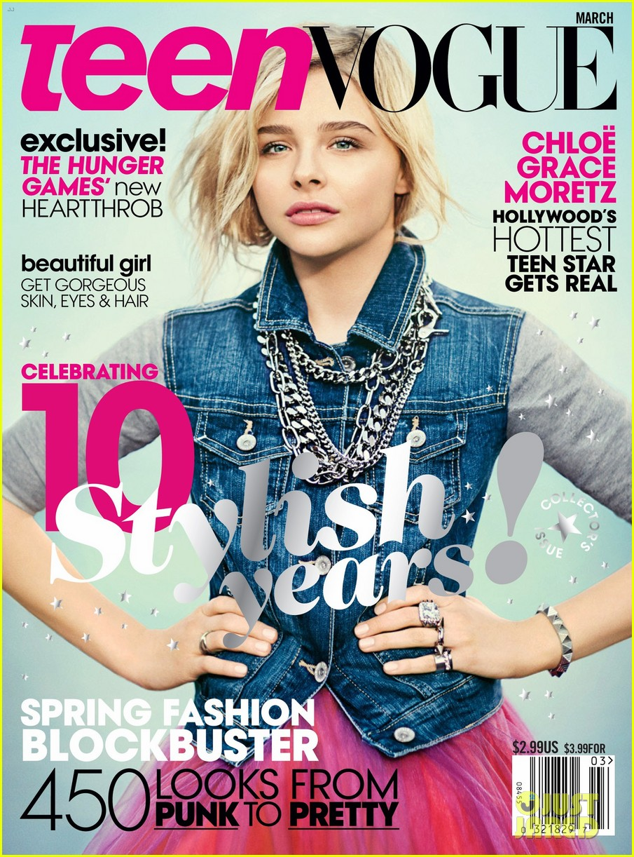 Teen Vogue Magazine Us March 2015 Cover: Chloë Grace Moretz News: Chloe Moretz Covers 'Teen Vogue