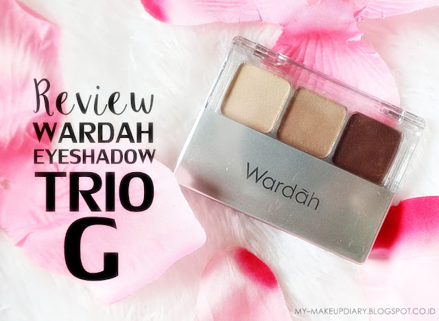 WARDAH EYESHADOW TRIO SERI G
