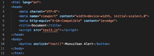 Penggunaan Javascript Menggunakan File Eksternal