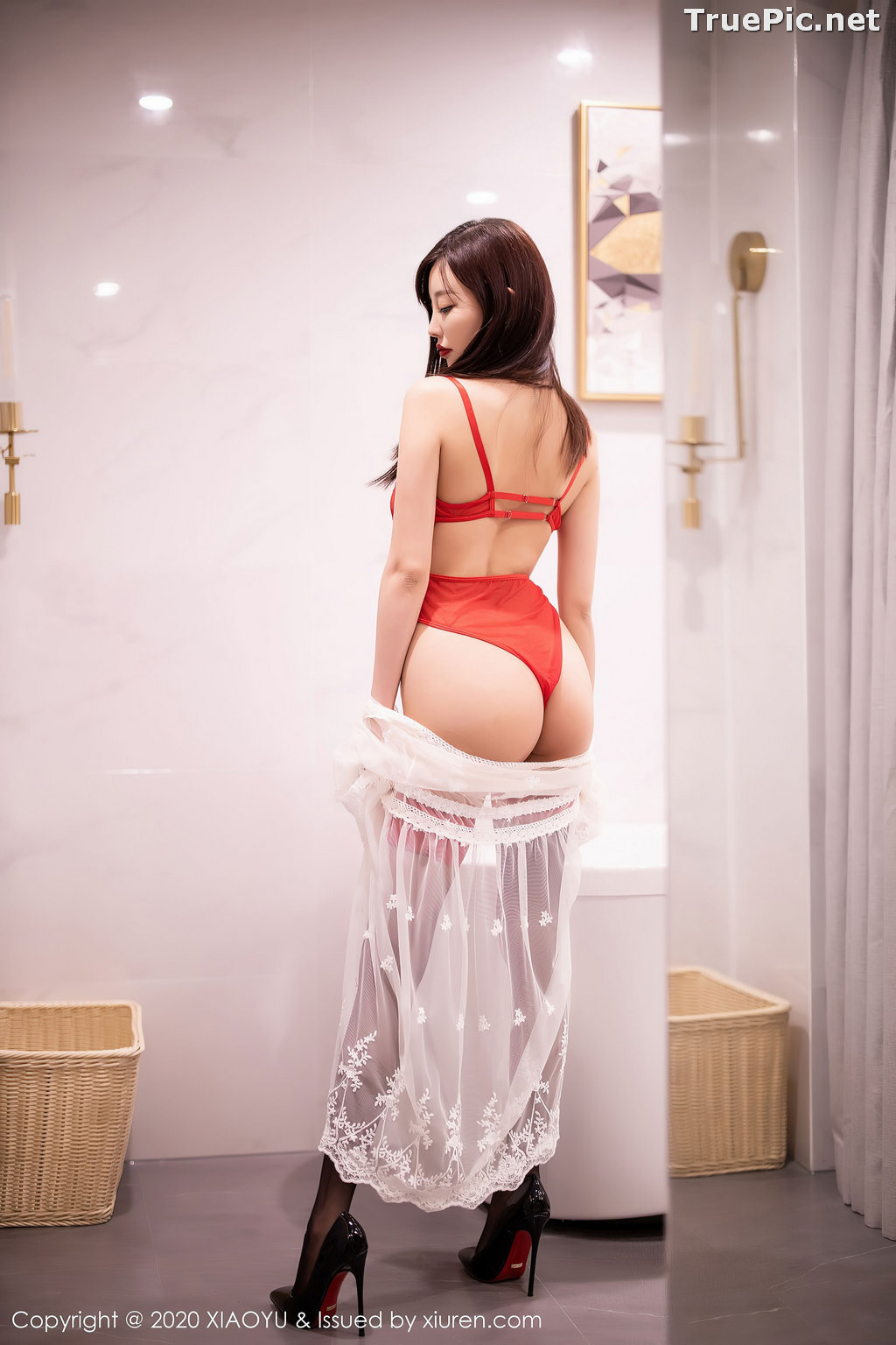 Image XiaoYu Vol.413 - Chinese Model - Yang Chen Chen (杨晨晨sugar)- Red Crystal-clear Lingerie - TruePic.net - Picture-21