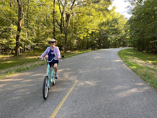 Riding bikes in Gunter Hill COE Campground