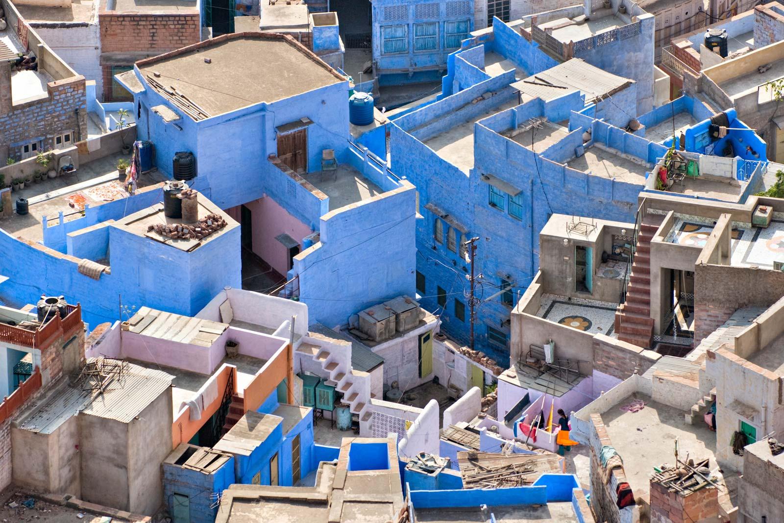 Улицы голубого города Джодхпур. Штат Раджастан