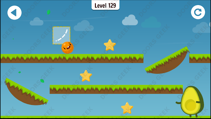 Where's My Avocado? Level 129 Solution, Cheats, Walkthrough, 3 Stars for Android, iPhone, iPad and iPod