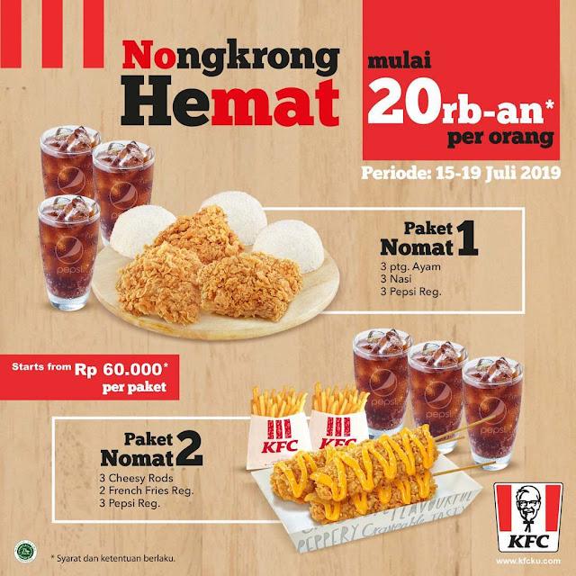 #KFC - #Promo Nongkrong Hemat Bareng Teman Mulai 20K / Orang (s.d 19 Juli 2019)