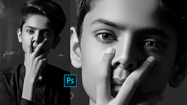 Black And White Photo Editing In Photoshop | Black And White Portrait Tone Effect Ps CC Tutorial