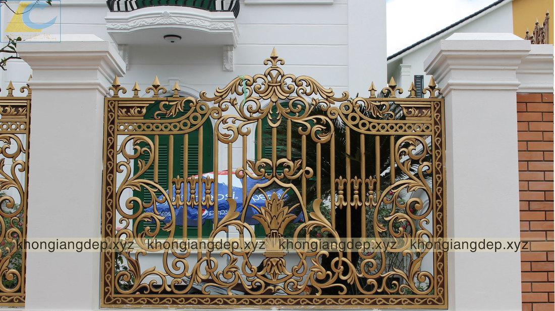 Hàng rào hợp kim nhôm đúc