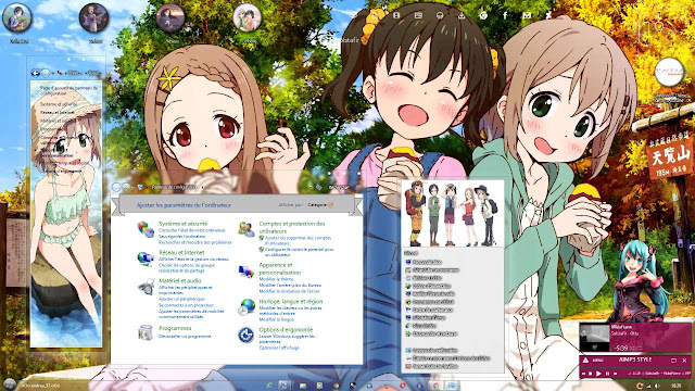 Windows 7 Theme Yama no Susume by Andrea_37.