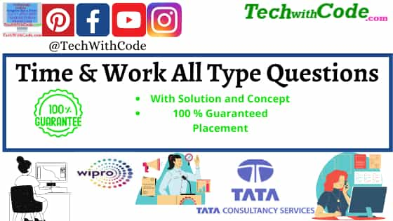 Time and Work problems with Solution | Practice Question | Tech With Code