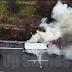 [Ελλάδα]Τουριστικό λεωφορείο παραδόθηκε  στις φλόγες στην Εθνική Οδό Αθηνών - Λαμίας[βίντεο]