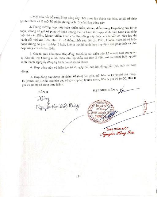 Trang 13 - Hợp đồng biệt thự Thanh Hà Cienco 5
