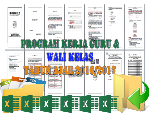 Download Program Kerja Guru Wali kelas 2016/2017