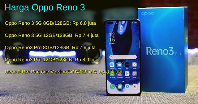 Harga Oppo Reno 3 Terbaru 2020