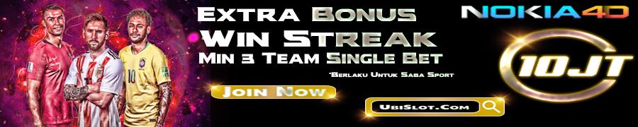 PROMO EXTRA BONUS WIN STREAK SINGLE BET