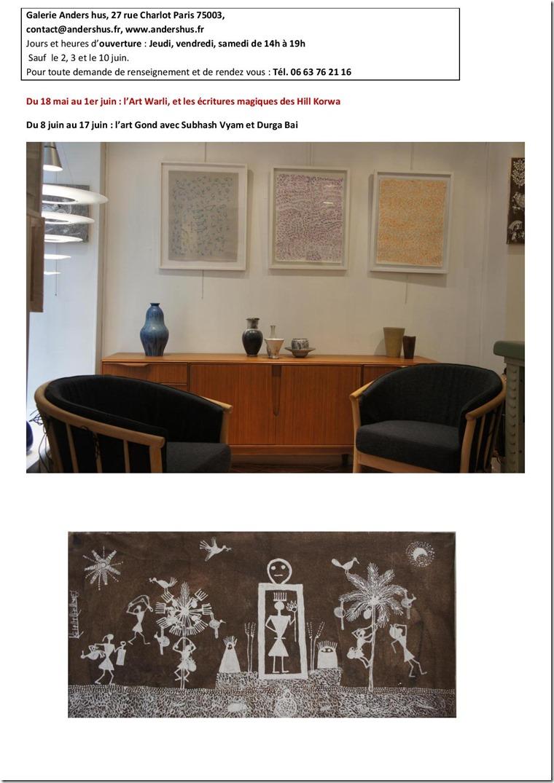 atelier des cr ations de fontenay avec cornelia art warli et magical scripts des hill korwa. Black Bedroom Furniture Sets. Home Design Ideas