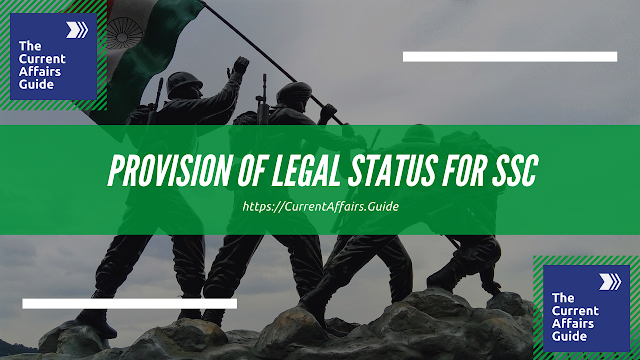 MP's Proposal of Legal Status for SSC