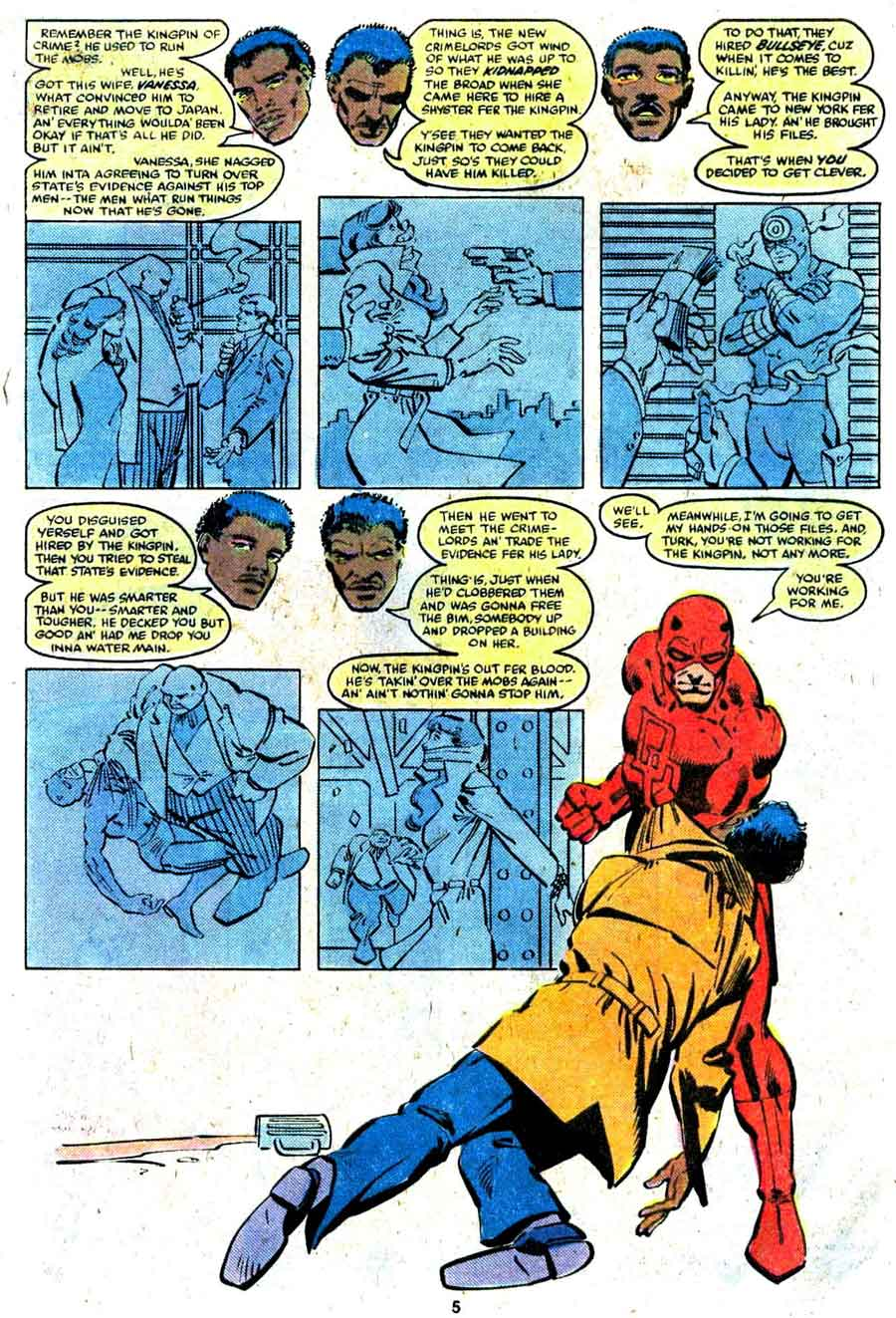 Daredevil v1 #172 marvel comic book page art by Frank Miller