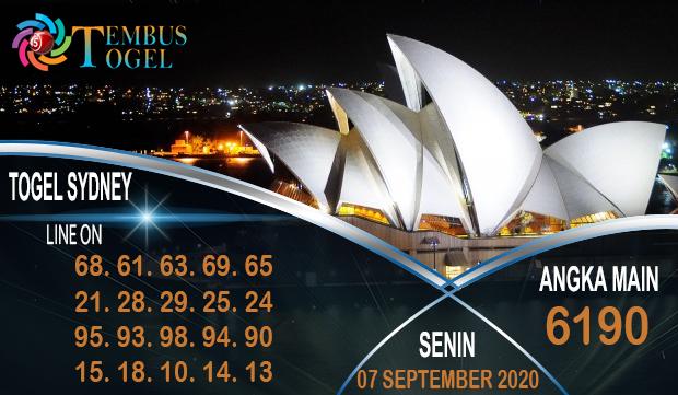 Angka Angka Togel Sidney Senin 07 September 2020