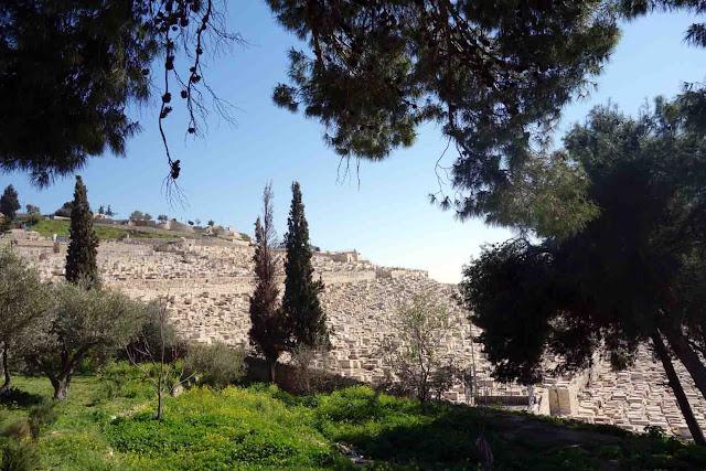 Cimetière juif du Mont des Oliviers à Jerusalem