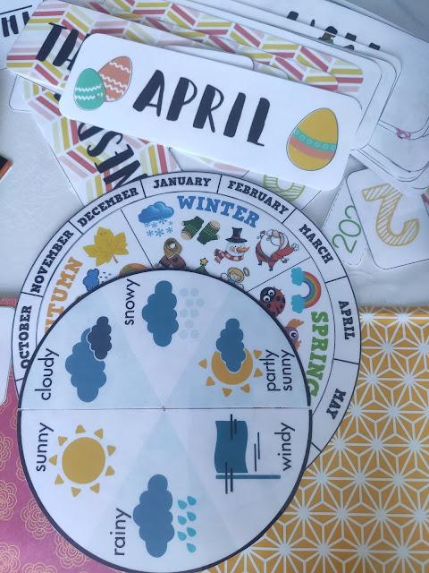 calendrier perpétuel enfant anglais diy