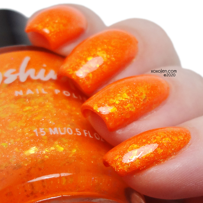 xoxoJen's swatch of KBShimmer  Hey There Pumpkin