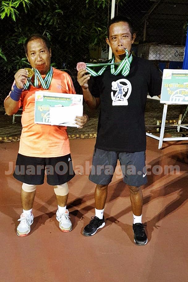 Tumbangkan Unggulan Pertama, Kusmeidi/Jumadi Juara Open Tournament Tennis Pegadaian Cup 2020