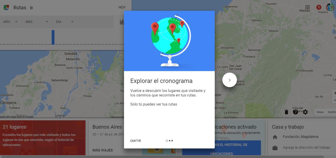 Cómo ver y eliminar su historial de ubicaciones en Google Maps