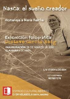 Invitación expo de fotográfia Gustavo García Espacio Cultural Abierto.