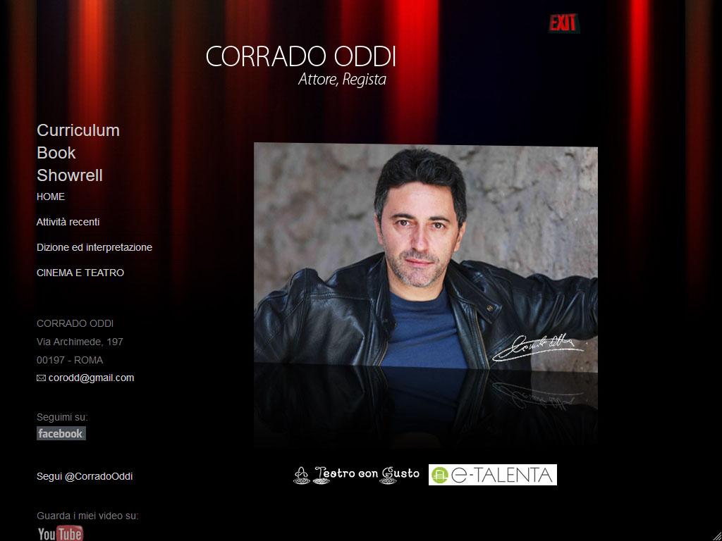 Corrado Oddi - Attore, Regista