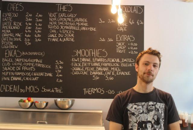 Mickael, l'autre propriétaire du Candide Café