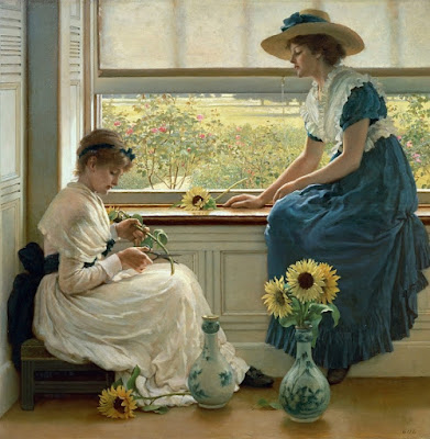 George Dunlop Leslie - Sun and Moon Flowers