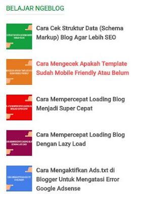 Cara Membuat Widget Recent Post Berdasarkan Label di Blogger